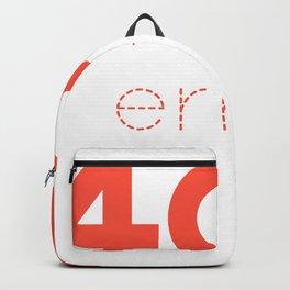 ERROR 404 red Backpack