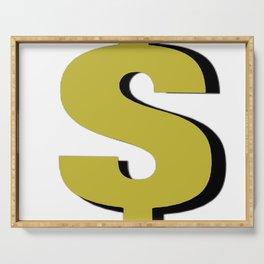 Cash $ Dollar // Transparent Background  Serving Tray