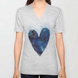 Blue Heart Unisex V-Neck