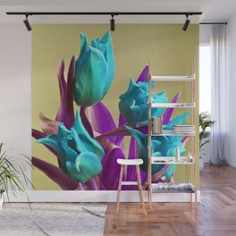 MAGIC PINK TULIPS Wall Mural