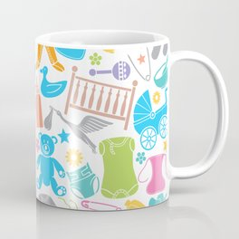 seamless pattern with baby icons Coffee Mug