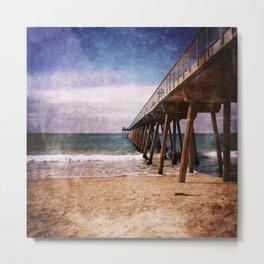 California Pacific Ocean Pier Metal Print