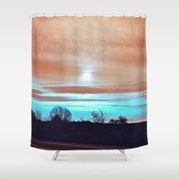 night sky Shower Curtains featuring Night sky by J's Corner