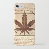 marijuana iPhone & iPod Cases featuring vitruvian marijuana by Emekli Astronot