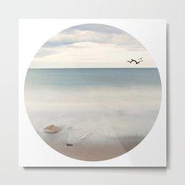 Solace Ocean Seaside Beach Neutral Fine Art Prints Gifts Metal Print