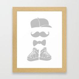 hispter mustache Framed Art Print