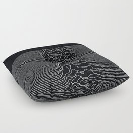 Unknown Radio Waves - Unknown Pleasures Floor Pillow
