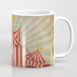 Shabby Circus Tent Retro Vintage Kitschy Coffee Mug