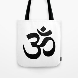 Minimal Black & White Om Symbol Tote Bag