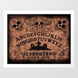 Sugar Skull ouija board Art Print