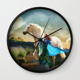 Lady in Blue - Spirit Connection Wall Clock