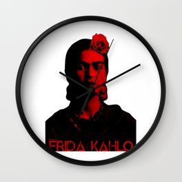 Frida Kahlo (Ver 8.2) Wall Clock