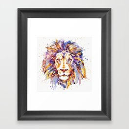 Lion Head Framed Art Print