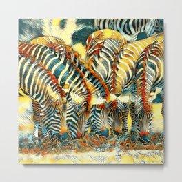 AnimalArt_Zebra_20170602_by_JAMColorsSpecial Metal Print