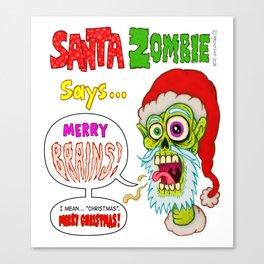 Santa Zombie Canvas Print