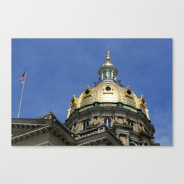 Iowa State Capitol Dome - Photography Canvas Print