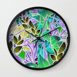 Floral Abstract Artwork G127 Wall Clock