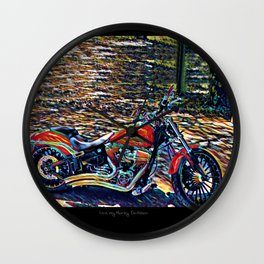 LOVE ME Some H.D. Therapy Wall Clock