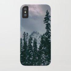 Cascade Winter Mountain iPhone X Slim Case