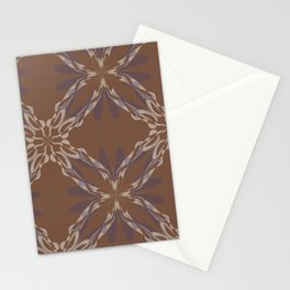 Pattern brown decoration Stationery Cards