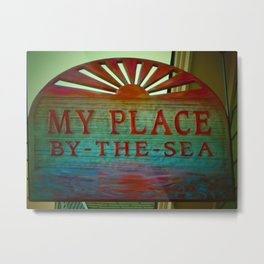 My Place By The Sea Metal Print
