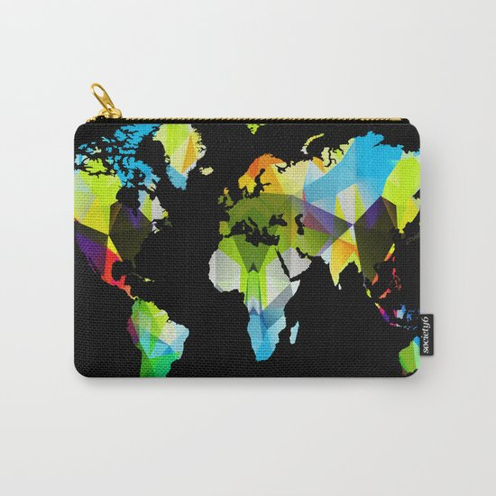 Colorful world map Carry-All Pouch
