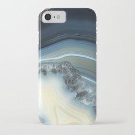Blue Agate Geode iPhone Case