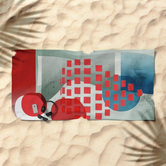 when in doubt wear red Beach Towel