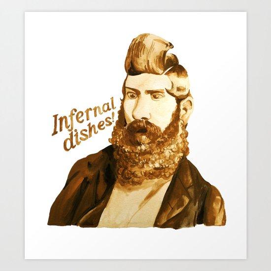 Infernal dishes Art Print