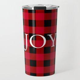 Joy Red Buffalo Check Travel Mug