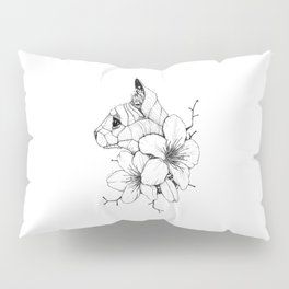 Sphynx cat & Sakura Blossoms Pillow Sham