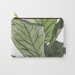 Ficus Lyrata Potted Plant.. Carry-All Pouch