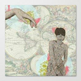 Feminine Collage I Canvas Print