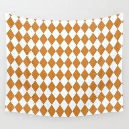 Diamonds (Bronze/White) Wall Tapestry