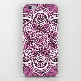 Mandala Mauve Colorburst iPhone Skin