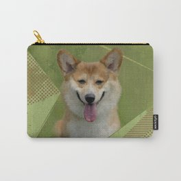 Pembroke Welsh Corgi Abstract Mixed Media Carry-All Pouch