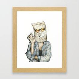 Brown Baggin' It Framed Art Print