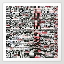 Click-N-Fail (P/D3 Glitch Collage Studies) Art Print