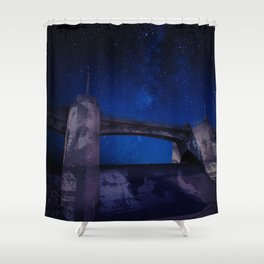 Sepulveda Dam at Night Shower Curtain