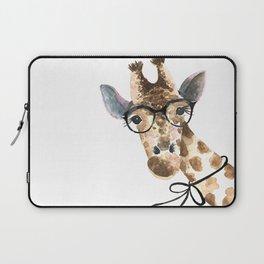 Giraffe with Glasses · Baby Giraffe · Baby Animals · Animals with Glasses · Giraffe with Bow Laptop Sleeve