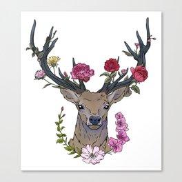 Boho deer Canvas Print