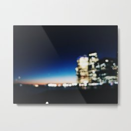 Blurry Night Metal Print