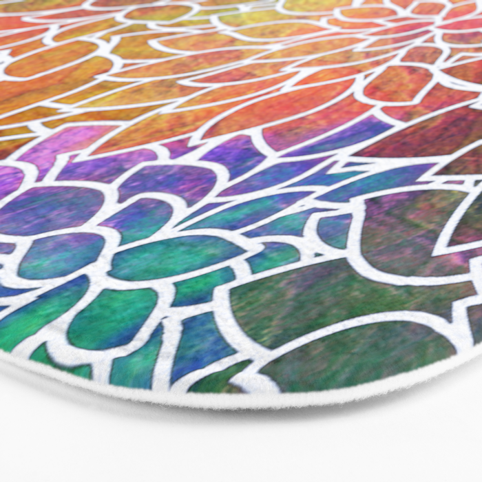 Floral Abstract 6 Bath Mat