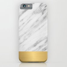 Carrara Italian Marble Holiday Gold Edition Slim Case iPhone 6
