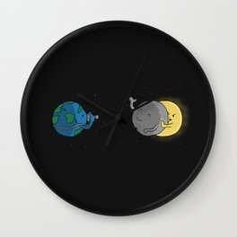 Stealing the Spotlight Wall Clock