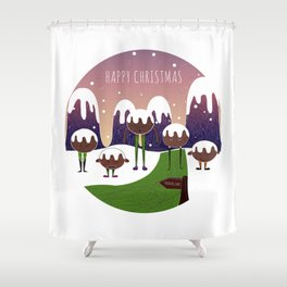// In the mountains of Pudding Lane // Shower Curtain