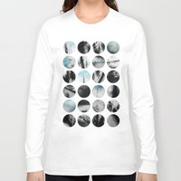 poetry Long Sleeve T-shirts featuring Circle Poetry / 1 by Elisabeth Fredriksson
