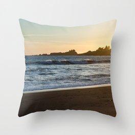 Chetco Cove Sunset Throw Pillow