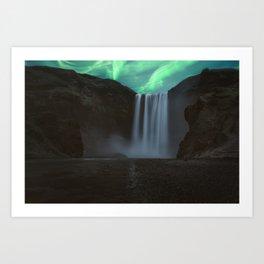 Skogafoss waterfall Iceland Art Print