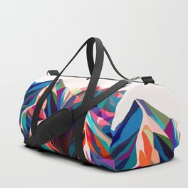 Mountains sunset warm Duffle Bag